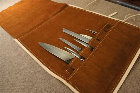 pattern knife roll chefs knife bag dragonthorn leatherworks leather