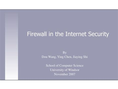 Firewall In Cyber Security For Mba by Ppt Firewall In The Security Powerpoint