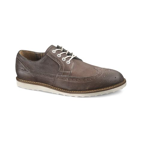 Hush Puppies Clasic Grey hush puppies wingtip wedge shoes in gray for lyst