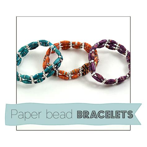 How To Make A Paper Bead Bracelet - recycled paper bead bracelets