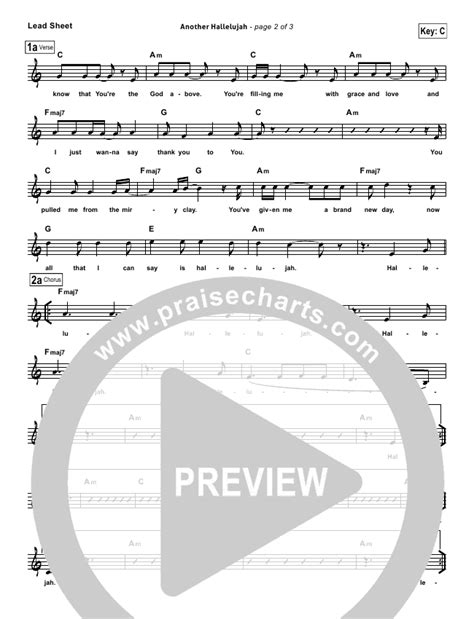 lincoln brewster another hallelujah praisecharts quot another hallelujah quot lead sheet lincoln
