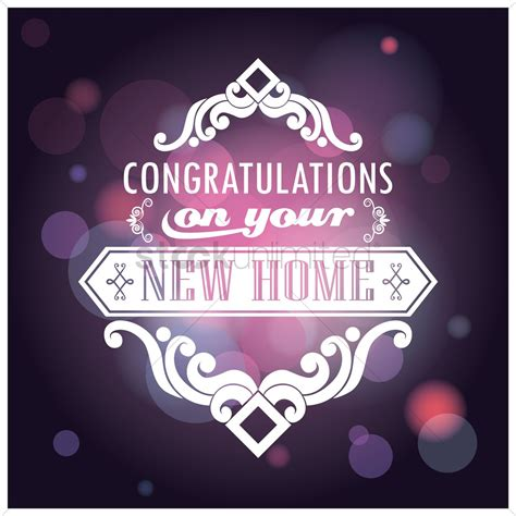 greeting card template new home congratulations on your new home card vector image