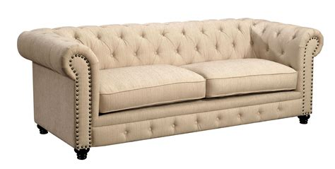 furniture of america sofa furniture of america stanford ivory fabric sofa foa 6269is