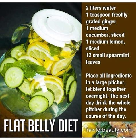 Flat Belly Diet Detox Menu by Flat Belly Infused Water Eat Clean