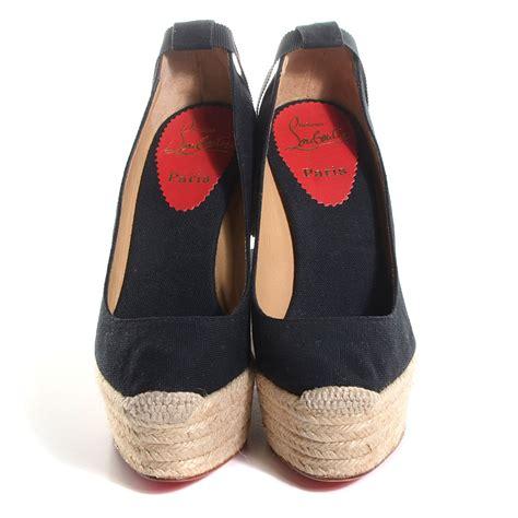 High Heels Black Gold 00001 christian louboutin toe wedge espadrilles louis