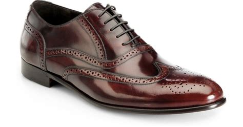 burgundy dress shoes lyst gordon pacific wingtip oxford dress shoes