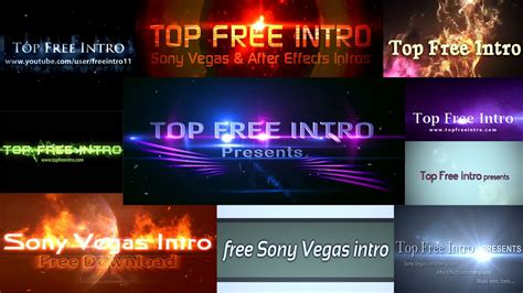 Sony Vegas Pro Intro Templates Free sony vegas intro templates no plugins and free