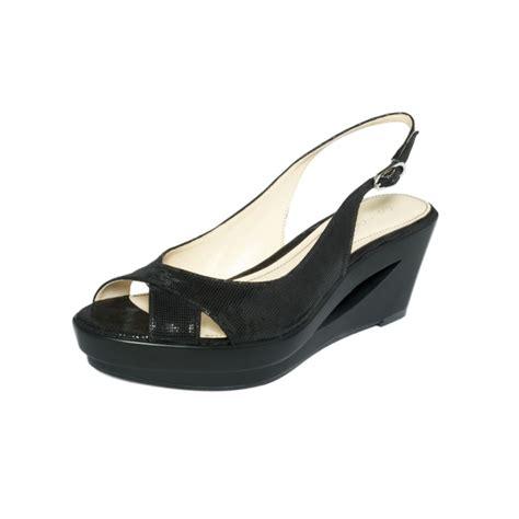 calvin klein wedge sandals calvin klein rosaria slingback wedge sandals in black