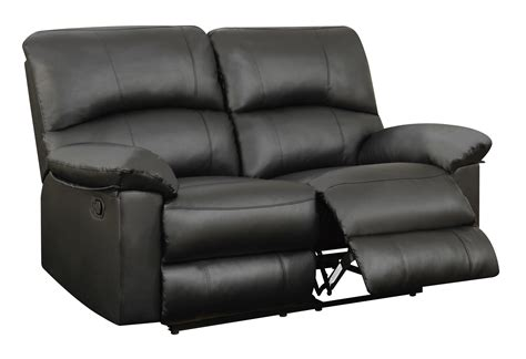 black reclining loveseat u99270 black pu reclining loveseat by global furniture