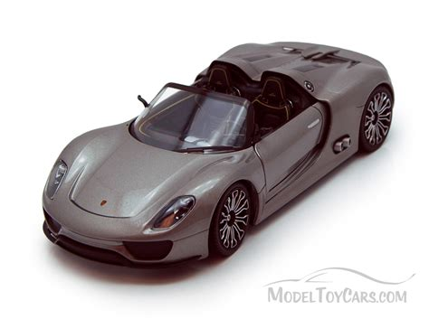 porsche toy car porsche 918 spyder convertible gray welly 24031 1 24