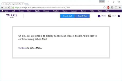 yahoo email upgrade 2015 yahoo mail begins blocking users with ad block enabled