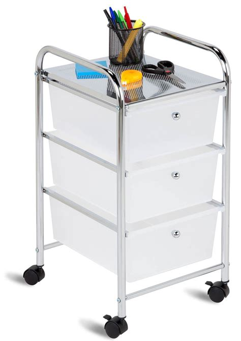 3 Drawer Rolling Cart by 3 Drawer Rolling Cart In Storage Drawers