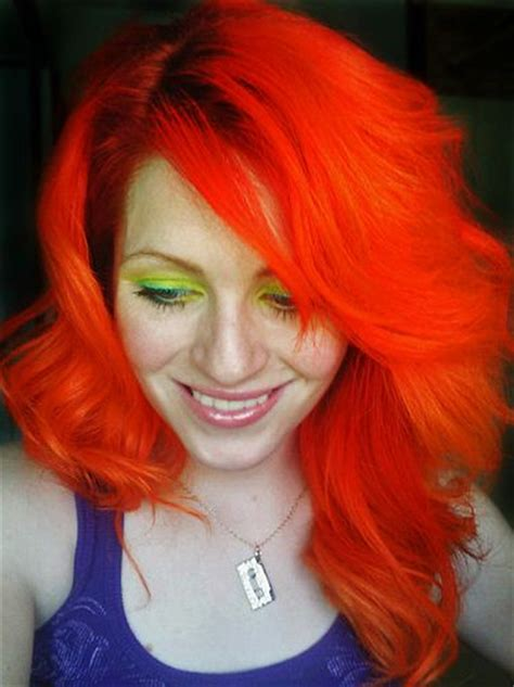 bright orange hair color 154 best hair on fire images on pinterest colourful hair