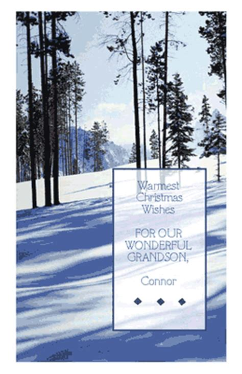 warm wishes  grandson greeting card christmas printable card american