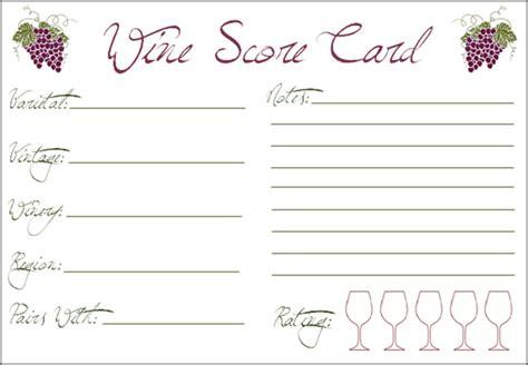 printable wine tasting note cards printable wine tasting cards craftbnb