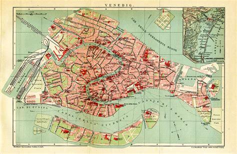 venedig italien venezia original karte von 1893 pxz 19b