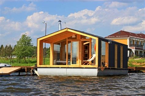 modular prefabricated floating house by friday the floating modular home mobile solutions from russia