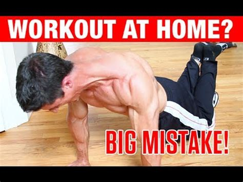 top 4 home bodyweight workout mistakes