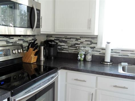 peel and stick glass mosaic tile backsplash 17 best images about countertops on