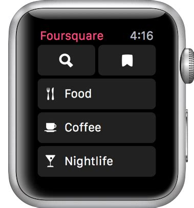 Foursquare Search Foursquare Para Apple