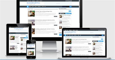 blogger tutorial full blogger lab full width version responsive blogger template