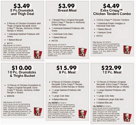 printable kfc coupons note you can also get this at coupons for kentucky fried