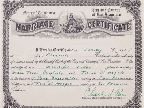 New York City Marriage Records 1800s Marriage Certificate Floral Corner Marriage