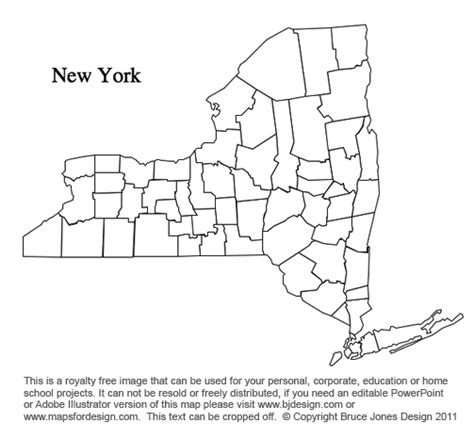 printable map new york state new york state map clipart 28