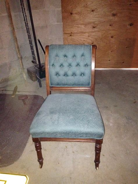 Value Of Antique Chair With Bassick Casters On Front Legs