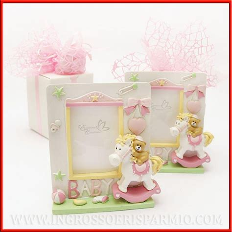 cornici battesimo bimba portafoto battesimo bambina rosa orsetto e dondolo offerta
