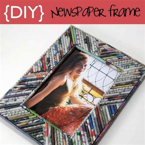 Make A News Paper - 17 diy picture frames crafty ideas tutorials