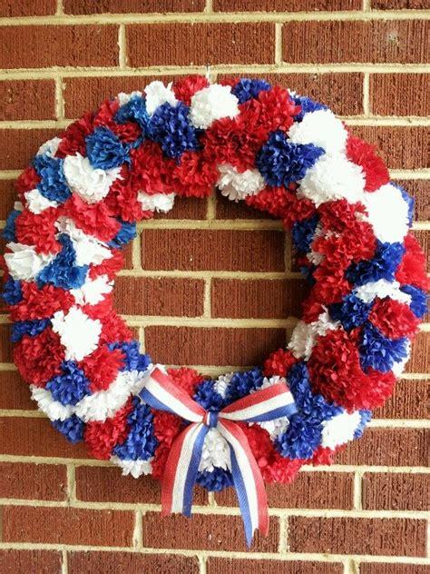 images    july wreath    pinterest   july wreath pom pom wreath