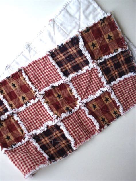 raggy prim table runner primitive rag quilted by