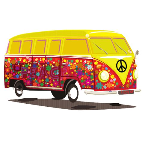 Vw Bus Hippie Drawing