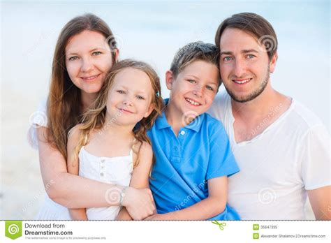 beautiful family beautiful family of four royalty free stock photo image