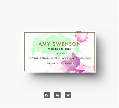 business card haircolor psd water caustics in photoshop tutorial 187 designtube