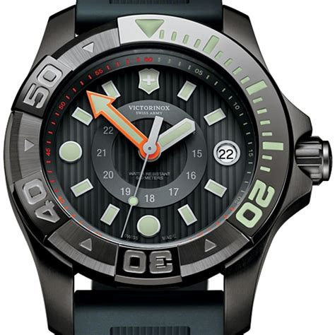 Swiss Army Rubber Black swiss army dive master 500 black rubber 241555