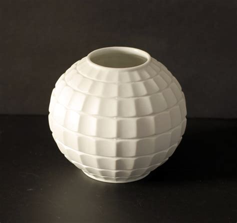 Geometric Vase by Vintage Scherzer Vase Geometric Porcelain Vase