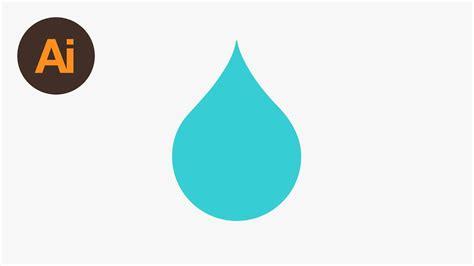 illustrator tutorial water drop design a water droplet icon illustrator tutorial youtube
