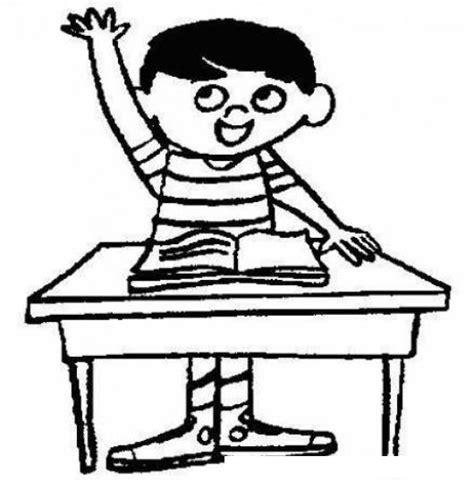 imagenes graciosas levantando la mano dibujo de nino estudiante levantando la mano en la escuela