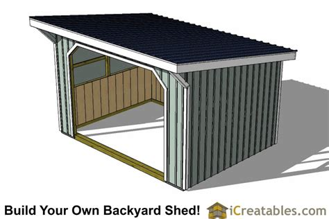 12 X16 Shed Plans by 12x16 Run In Shed Plans With Wood Foundation