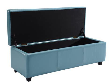 amazon leather storage ottoman amazon com simpli home avalon rectangular faux leather