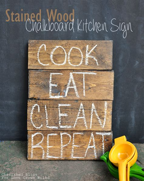 diy chalkboard wood the 35 best diy kitchen decorating projects page 2 of 4
