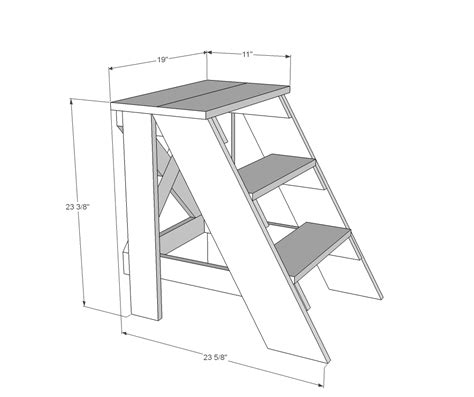 step stool plans designs white vintage x back step stool end table diy projects