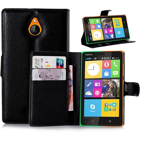Casing Hp Nokia X2 Android for nokia x2 android pu wallet leather with photo frame card holder for nokia x2 android