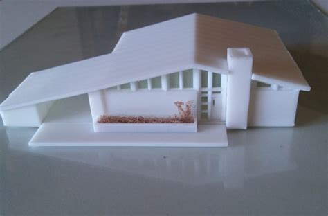 architectural model kit 3d scale models mid century house kit 1 n scale 1 160 3d printing model