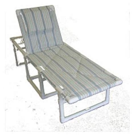 Backyard Creations Sling Chaise Lounge Pipe Creations Custom Rust Proof Weather Proof Pvc