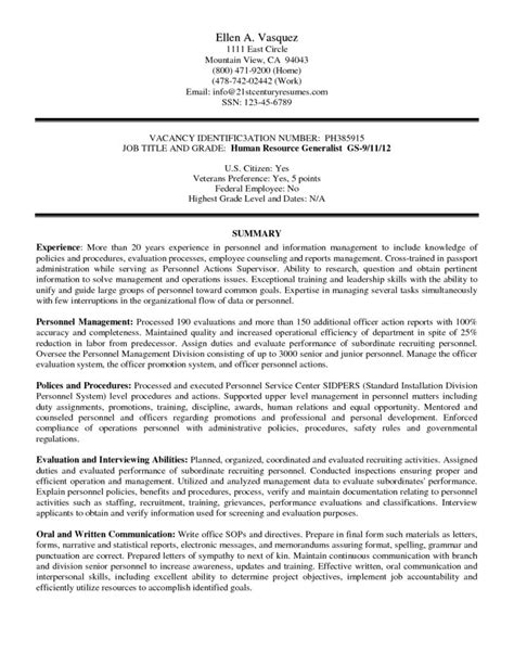 government resume sle federal resume writing guide 28 images federal resume