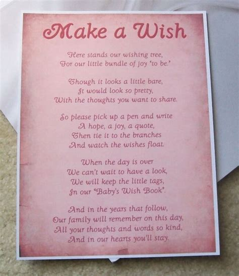 Wishes Written On Paper Make This - how to decide baby shower wishing well poems ideas baby
