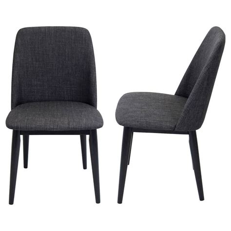 Dining Chairs Mid Century Tintori Mid Century Modern Dining Chair Set Of 2 Lumisource Ebay
